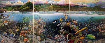 Undersea Symphony of Hana Tryptich 1990 With Remarque Limited Edition Print by Robert Lyn Nelson