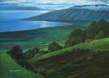 From Lower Kula 1983 42x29 Original Painting by Robert Lyn Nelson