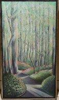 Early Spring 1984 30x16 Rare Landscape Original Painting by Lowell Blair Nesbitt - 1