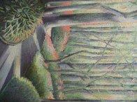 Early Spring 1984 30x16 Rare Landscape Original Painting by Lowell Blair Nesbitt - 2