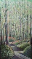 Early Spring 1984 30x16 Rare Landscape Original Painting by Lowell Blair Nesbitt - 0