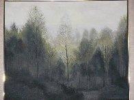 Forest Morning 1984 60x73 Super Huge (Early Landscape) Original Painting by Lowell Blair Nesbitt - 1