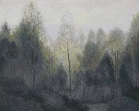 Forest Morning 1984 60x73 Super Huge (Early Landscape) Original Painting by Lowell Blair Nesbitt - 0