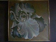 Nocturnal Iris 60x60 Super Huge Original Painting by Lowell Blair Nesbitt - 1