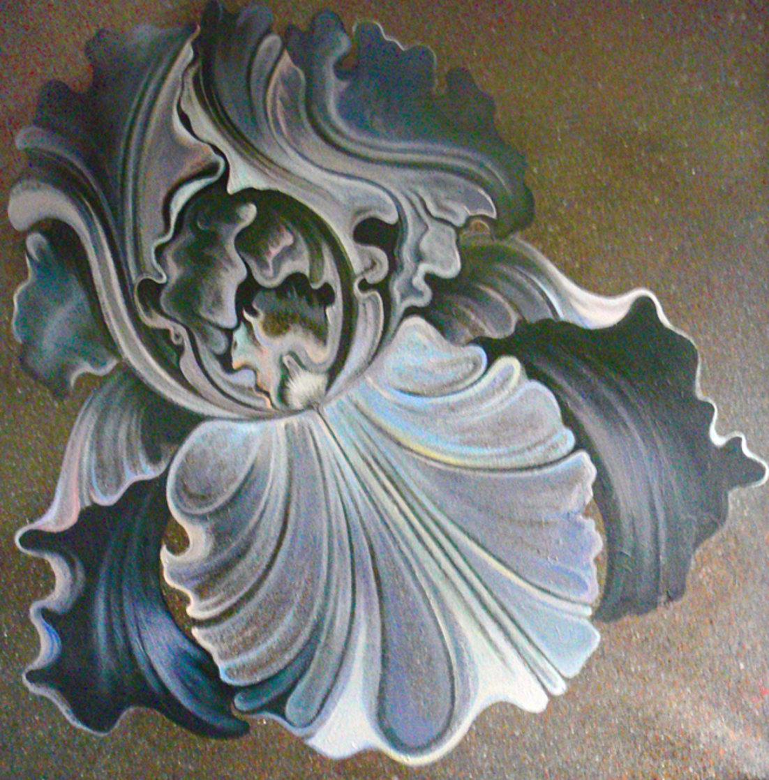 Nocturnal Iris 60x60 Super Huge Original Painting by Lowell Blair Nesbitt