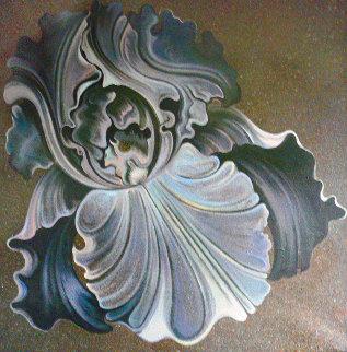 Nocturnal Iris 60x60 Super Huge Original Painting - Lowell Blair Nesbitt