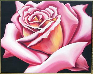 Pink Rose 1976 40x50 Original Painting by Lowell Blair Nesbitt