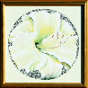 Lemon White Lily 1982 26x26 Original Painting by Lowell Blair Nesbitt - 1