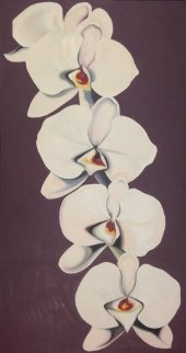 Phaelaenopsis Orchid 1979 49x28 Super Huge Original Painting - Lowell Blair Nesbitt
