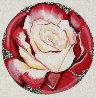 Red And White Rose 1982 26x26 Original Painting by Lowell Blair Nesbitt - 0