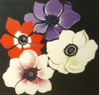 Four Anemones 1980 Limited Edition Print by Lowell Blair Nesbitt