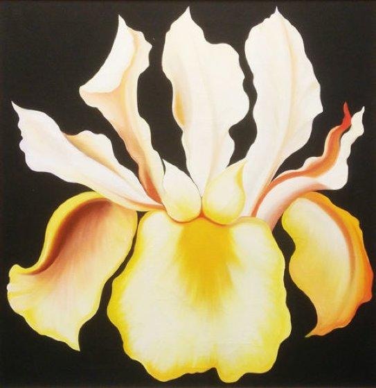 Japanese Iris 1974 26x26 Original Painting by Lowell Blair Nesbitt