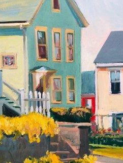 Neighborhood 1986 18x14 Original Painting - John Nesta