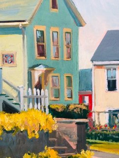Neighborhood 1986 18x14 Original Painting by John Nesta