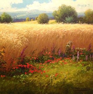Cornfield 32x32 Original Painting by Gerhard Nesvadba