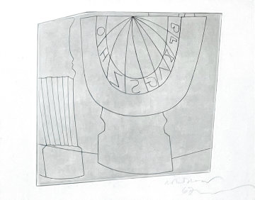 Turkish Sundial, Column and Tree 1967 Limited Edition Print - Ben Nicholson