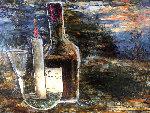 Untitled Painting 1957 16x20 Original Painting - Leonardo Nierman