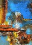 Enchanted City 39x31 Original Painting - Leonardo Nierman