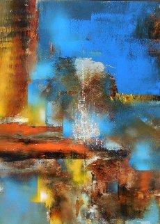 Enchanted City 39x31 Original Painting by Leonardo Nierman