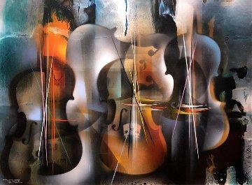 Sonata 30x38 Original Painting - Leonardo Nierman