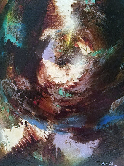 Untitled Painting 21x18 Original Painting by Leonardo Nierman