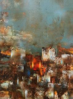Wall 58x45  Huge Original Painting - Leonardo Nierman