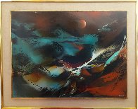 Imaginary Landscape 30x38 Original Painting by Leonardo Nierman - 1
