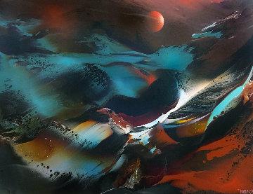 Imaginary Landscape 30x38 Original Painting - Leonardo Nierman