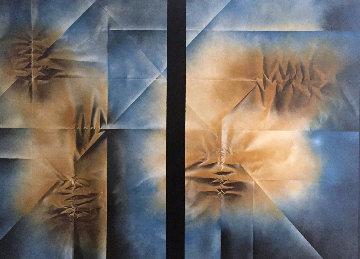 Dualidad 51x38 Original Painting - Leonardo Nierman