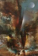 Imaginary Landscsape 1982 30x23 Original Painting by Leonardo Nierman - 0