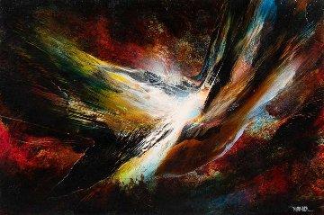 Autumn Flight 22x29 Original Painting - Leonardo Nierman