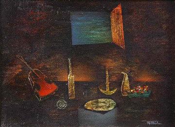 Untitled (Still Life) 18x22 Original Painting by Leonardo Nierman
