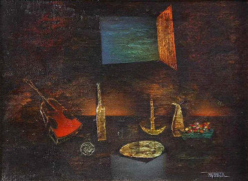 Untitled (Still Life) 18x22 Original Painting - Leonardo Nierman