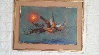 Firebird 1962 22x30   Original Painting by Leonardo Nierman - 1