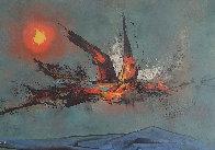 Firebird 1962 22x30   Original Painting by Leonardo Nierman - 0