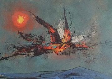 Firebird 1962 22x30   Original Painting by Leonardo Nierman