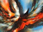 Magic Fire 37x49 Original Painting - Leonardo Nierman