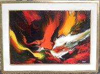 Lava 22x30 Original Painting by Leonardo Nierman - 1