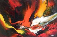 Lava 22x30 Original Painting by Leonardo Nierman - 2
