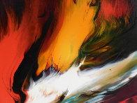 Lava 22x30 Original Painting by Leonardo Nierman - 3