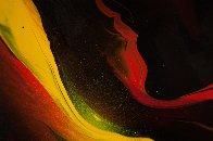 Lava 22x30 Original Painting by Leonardo Nierman - 4