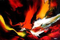 Lava 22x30 Original Painting by Leonardo Nierman - 0