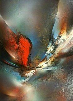Flight 32x24 Original Painting - Leonardo Nierman