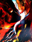 Profecia 1979 38x30 Original Painting - Leonardo Nierman