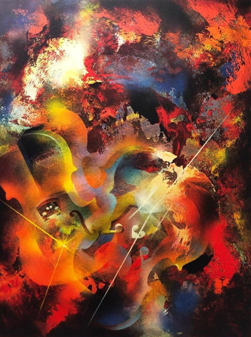 Sound of Color - Stravinsky 1976 Limited Edition Print by Leonardo Nierman