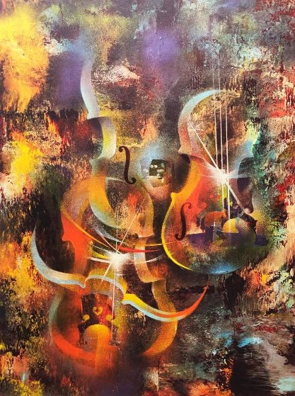 Sound of Color: Ravel 1976 Limited Edition Print by Leonardo Nierman