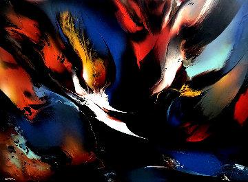 Viento De Primavera (Spring Wind) 2014 49x63 Original Painting - Leonardo Nierman