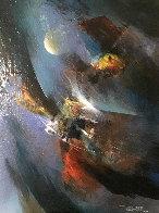 Untitled Painting 21x17 Original Painting by Leonardo Nierman - 0