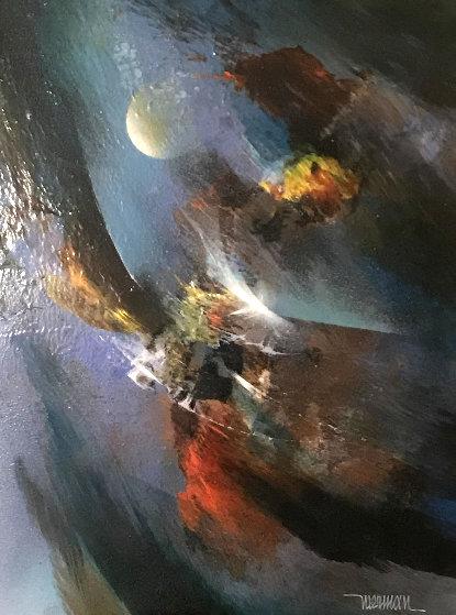 Untitled Painting 21x17 Original Painting by Leonardo Nierman