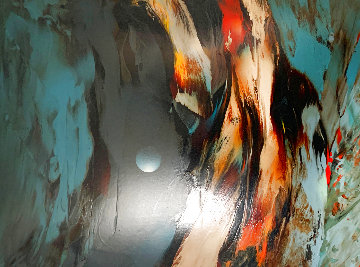 Mountain Wind 1970 48x36 Super Huge  Original Painting - Leonardo Nierman